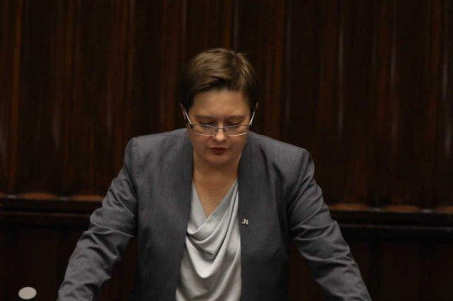 Katarzyna Lubnauer z .Nowoczesnej krytykuje Piotra Glińskiego.