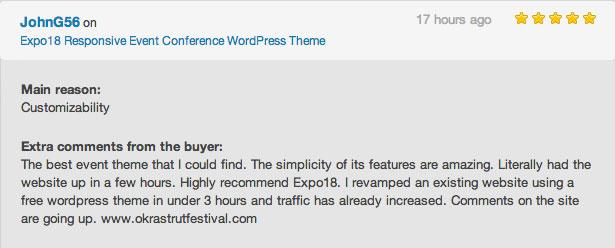 Event WordPress theme review