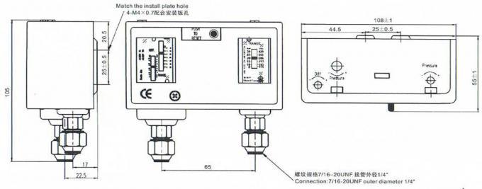 Manual Format Form Air Compressor Pressure Switch Dual