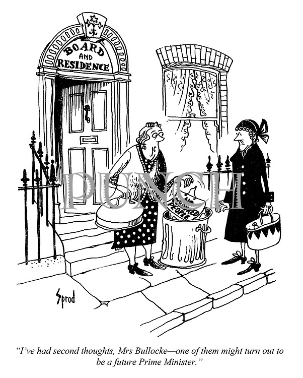 Politics, Racism cartoons from Punch magazine by George