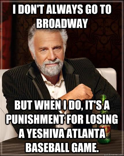 Funny Punishments Losing Game : funny, punishments, losing, Don't, Always, Broadway, Punishment, Losing, Yeshiva, Atlanta, Baseball, Game., Interesting, World, Quickmeme