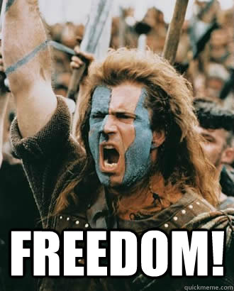 Mel Gibson Freedom Meme : gibson, freedom, FREEDOM!, Braveheart, Quickmeme