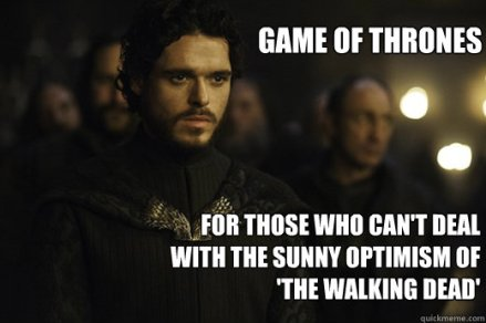 Image result for game of thrones and walking dead meme