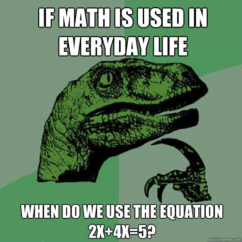 if math is used
