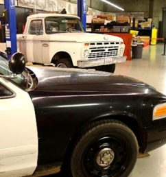 chassis swapping a 66 ford f 100 with a crown victoria police car roadkill customs [ 1280 x 720 Pixel ]