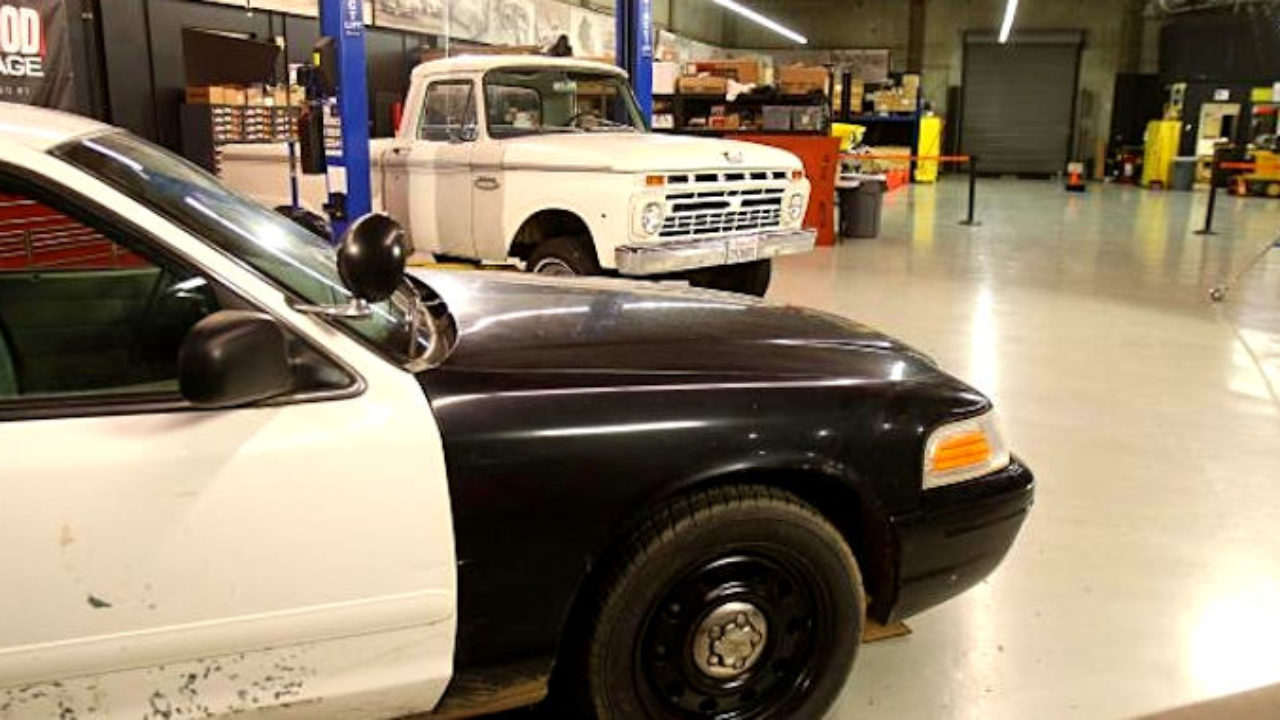 hight resolution of chassis swapping a 66 ford f 100 with a crown victoria police car roadkill customs