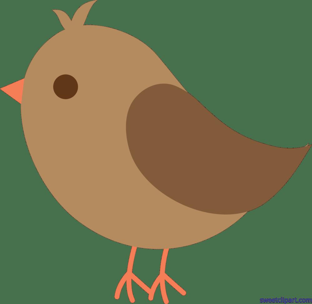 medium resolution of bird brown cute clip art