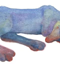 blue sleeping dog clipart [ 2510 x 831 Pixel ]