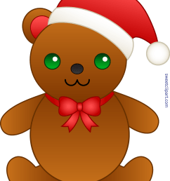 cute christmas teddy bear clip art [ 4147 x 5110 Pixel ]