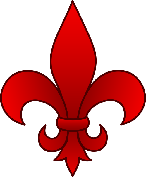 small resolution of fleur de lis red clip art