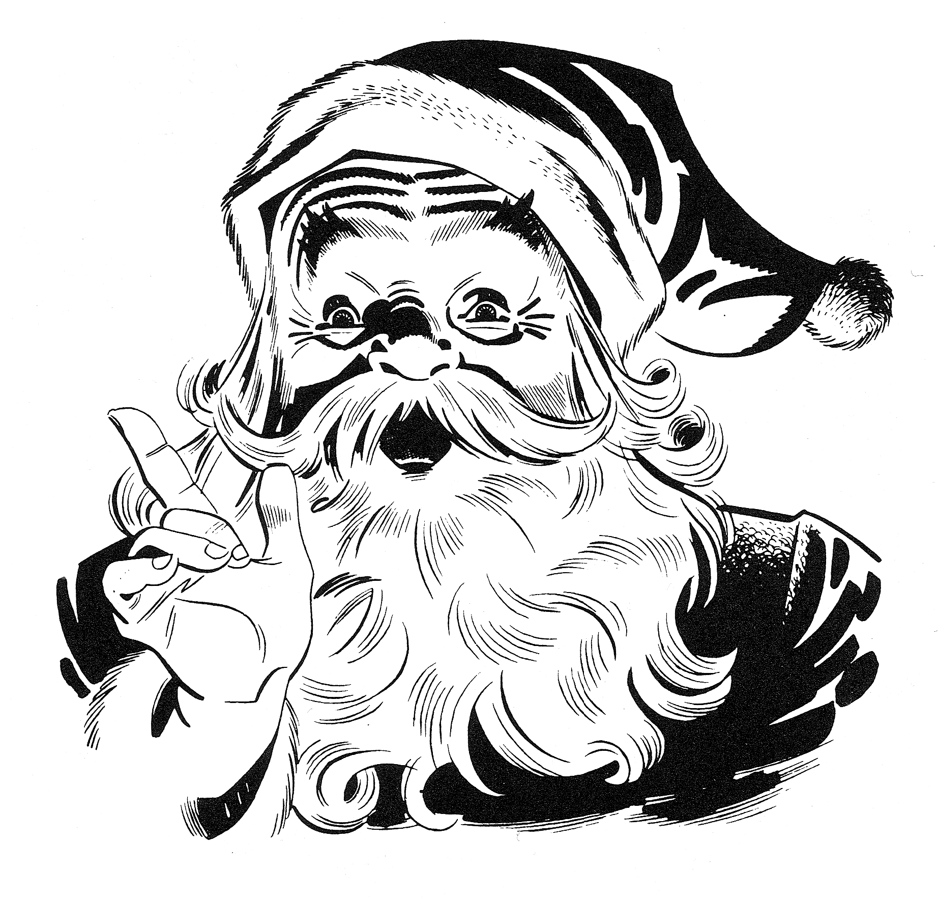 hight resolution of public domain santa claus clipart