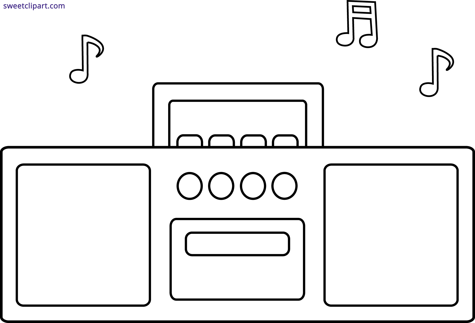 hight resolution of radio outline clipart