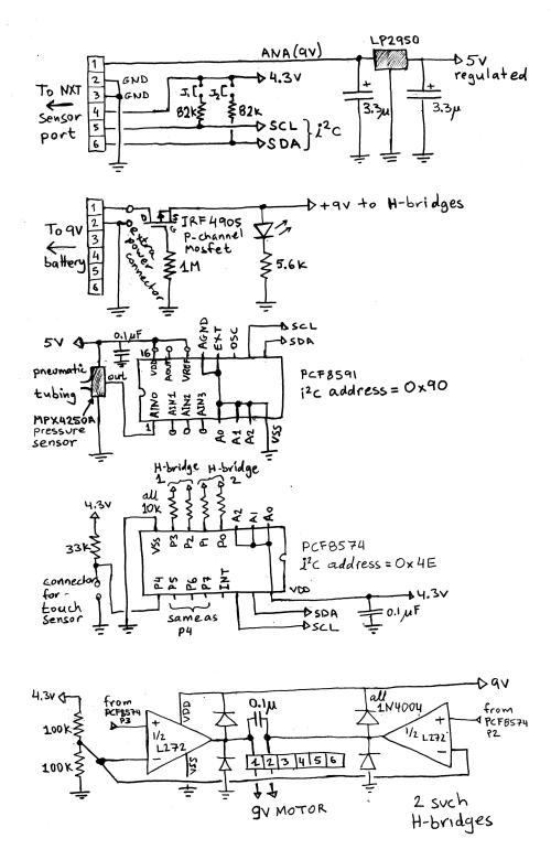 small resolution of schmatics of the motor controller and pressure sensor