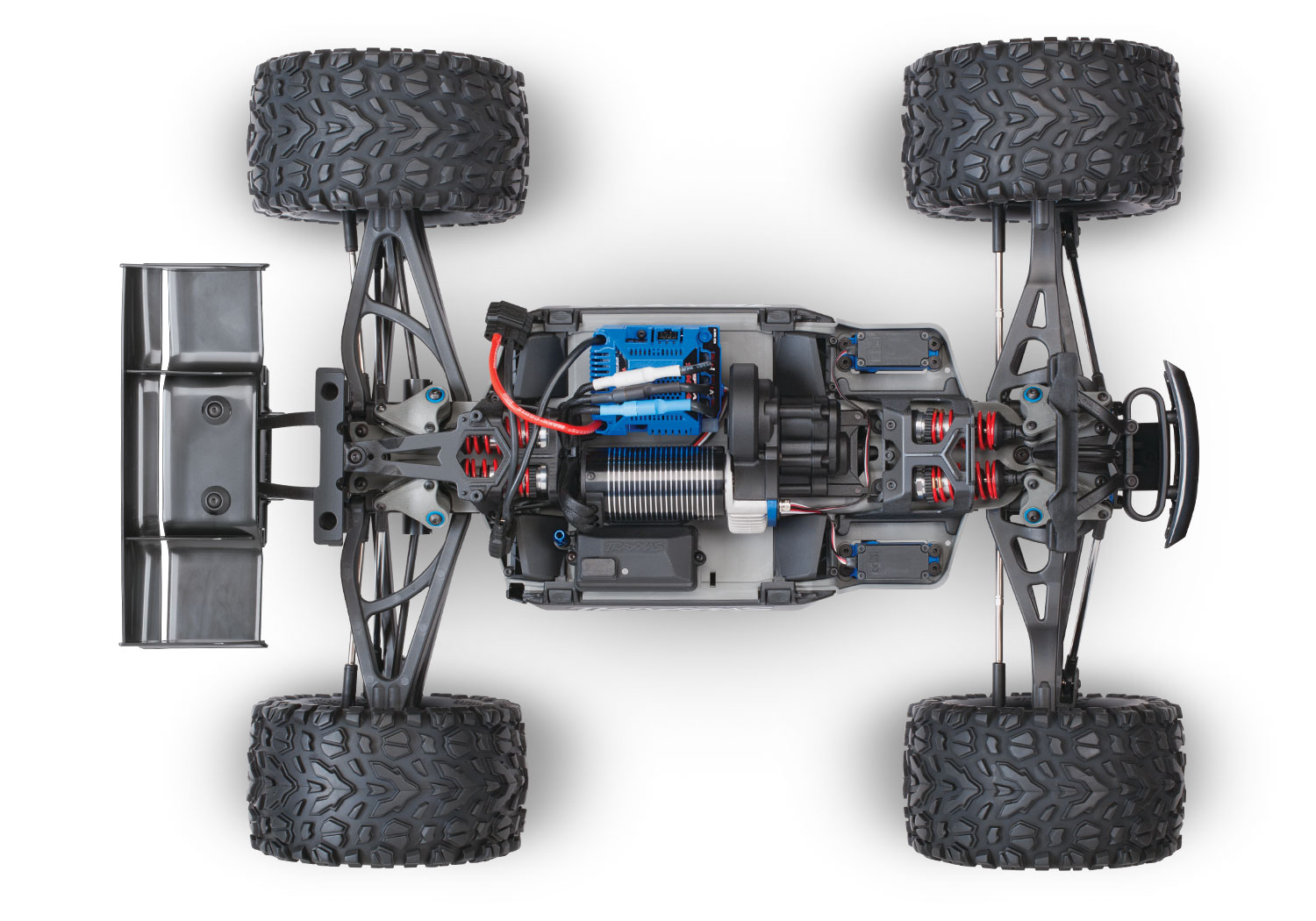 hight resolution of e revo chassis look from above