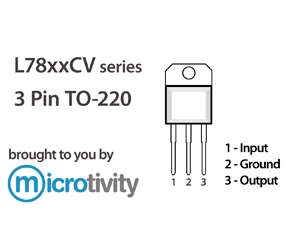 microtivity: Pack of 3 78xx Assorted Linear Voltage