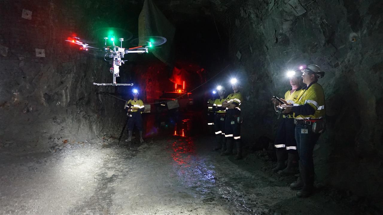 SelfDirected Drones Delve Deep Into Mines