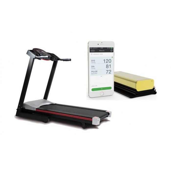 OTO Sport Runner SR-1200 Foldable Treadmill + Qardio Arm ...