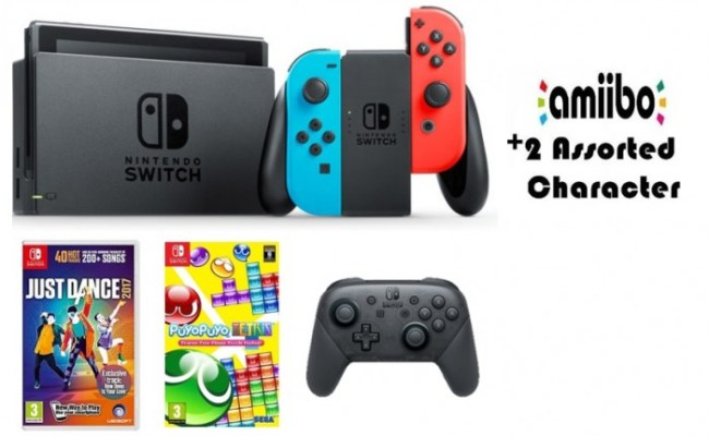 Nintendo Switch Colored Joy Con Portable Gaming System