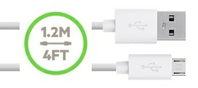 INCLUDES REMOVABLE MICRO-USB TO USB CABLE