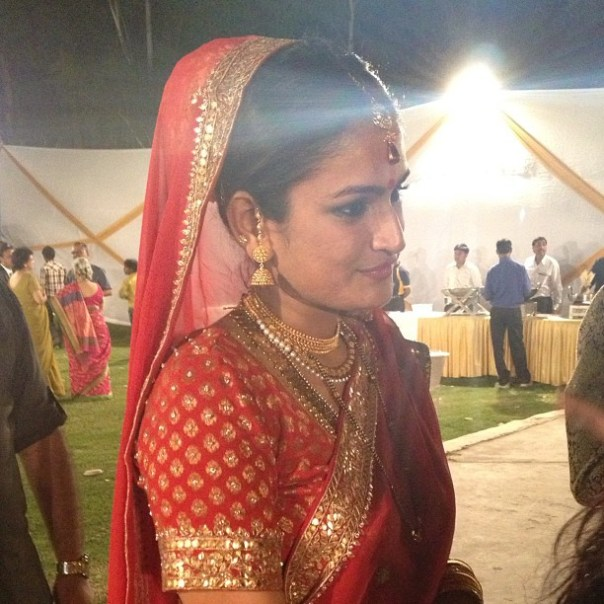 The absolutely beautiful bride! #India #Wedding