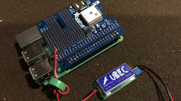 Power for the Raspberry Pi and Adafruit GPS hat
