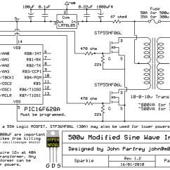220v To 12v Transformer Wiring Diagram 4 Way Flat Trailer Dynantefo Pic Controlled 500w Modified Sine Wave Inverter  M0ukd