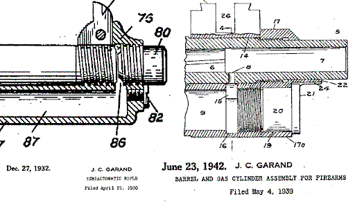 m1 rifle diagram pioneer deh 1850 wiring garand history early designs and initial adoption u s patent drawings for john design of the april 1930