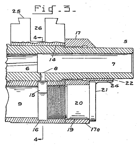 m1 rifle diagram circuit breaker wiring house garand gas pressure cylinder from the u s patent