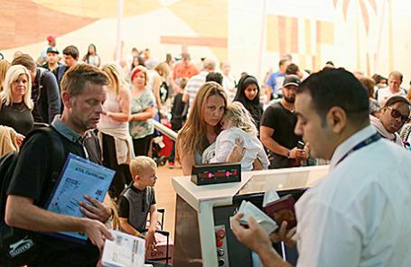 Туристы в аэропорту Шарм-эль-Шейха