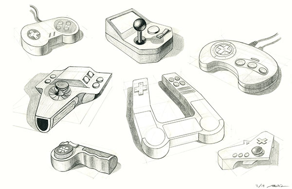 Games Controller Ps3 Drawing