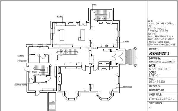 Reflected Ceiling Plan & Electrical Plan Drawing on Behance
