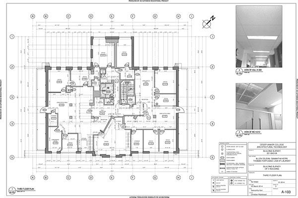 Building Survey of H building on Vanier College campus on