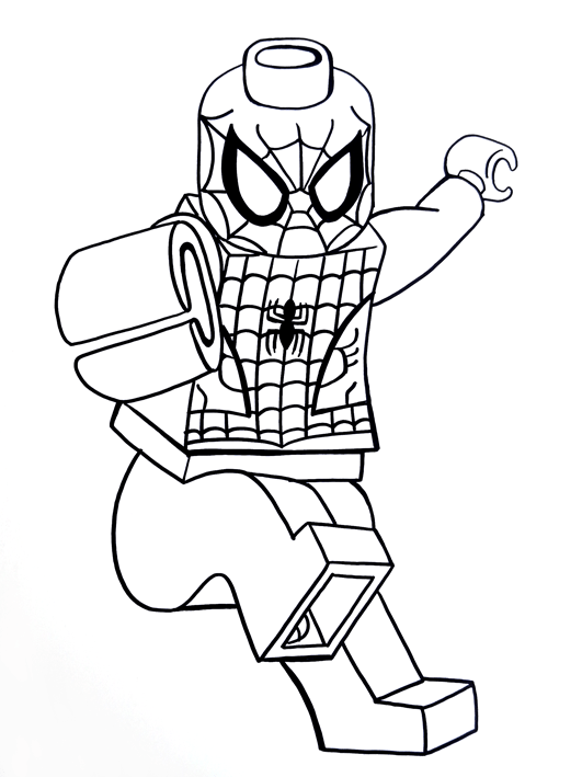 Lego Sketch spiderman on Behance