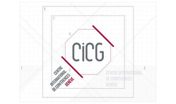 Corporate identity of the CICG on Behance