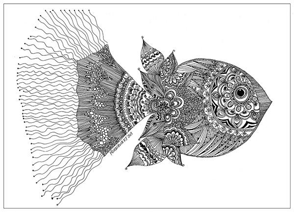 Zentangle beauty Fish. on Behance
