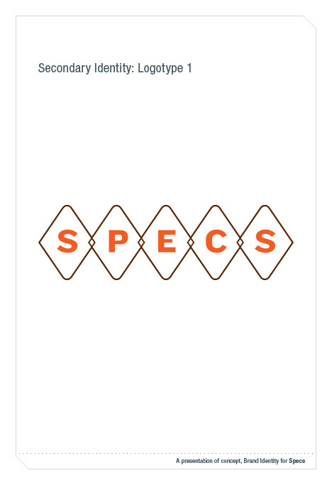 Masters Thesis :: Redesign SPECS brand identity on Behance