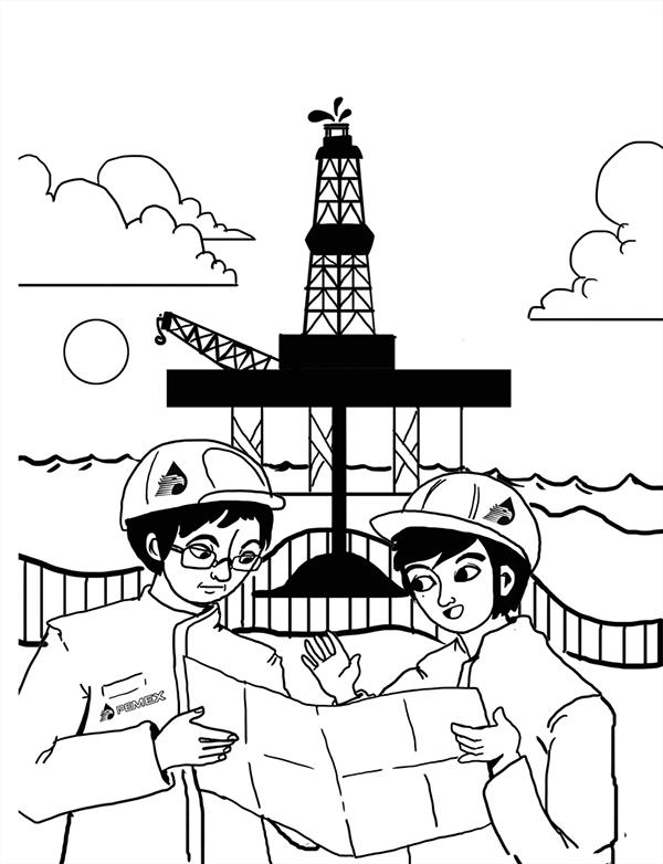 Torre De Petroleo Dibujo