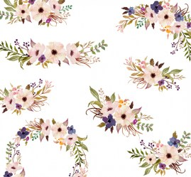 watercolor flower clipart clip purple floral march flowers individual wreath behance etsy painted hand bouquets 300dpi resolution painting format 4000px