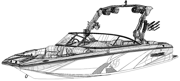 MasterCraft Boats X-25 Vector Illustration on Behance