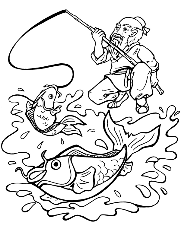 Chinese Lantern Coloring Pages