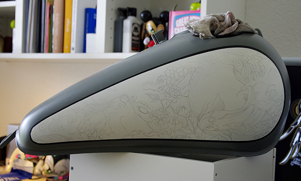 "Diy Drawing Table ""pimp My Bike"" Painting A Motorcycle On Behance"