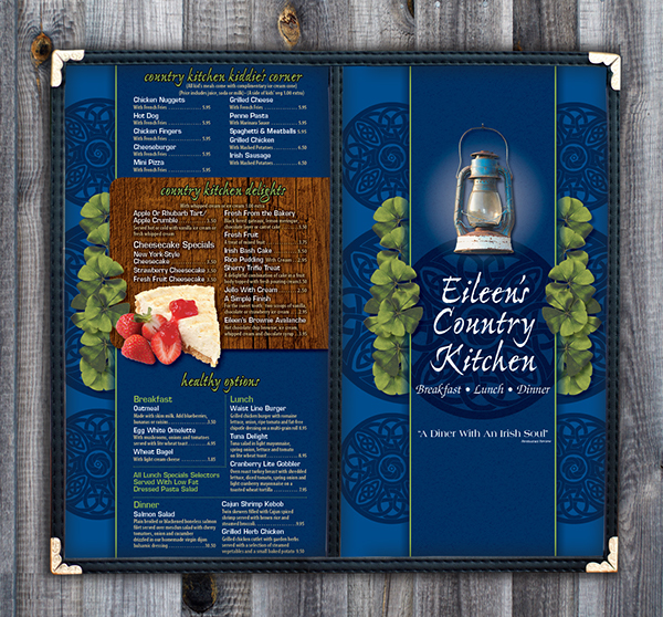 Eileen's Country Kitchen Menu On Behance