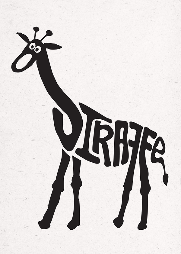 Animal Typography on Behance