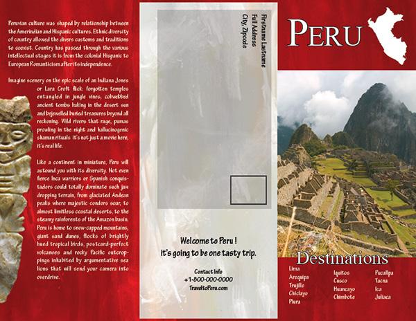 Travel Brochure On Behance
