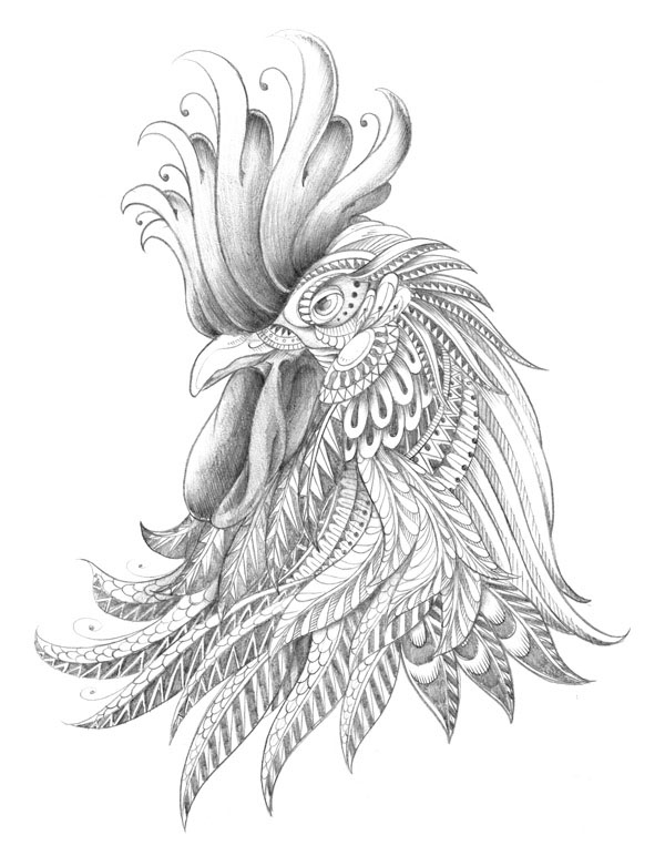 Ornately Decorated Rooster on Behance