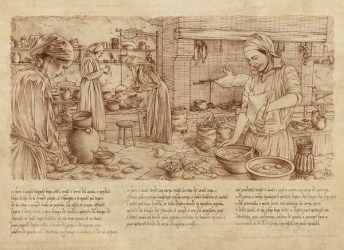 medieval kitchen illustrations behance portfolio