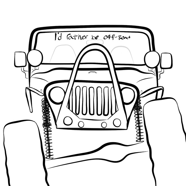 Jeep Drawings on Behance