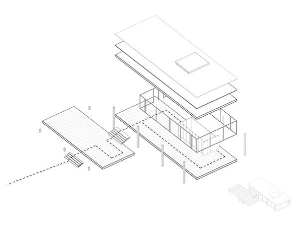The Farnsworth House on Behance