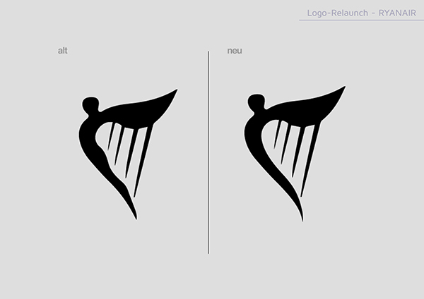 RyanAir Logo Relaunch on Behance
