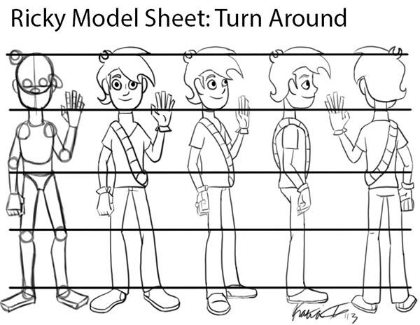 2D Production Model Sheets on SCAD Portfolios